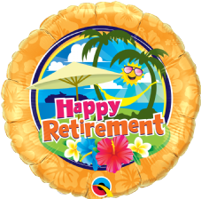 'Happy Retirement' Sunshine Foil Balloon